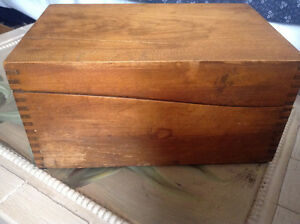 Antique wood file box