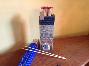 Tole Painted Matchstick Holder