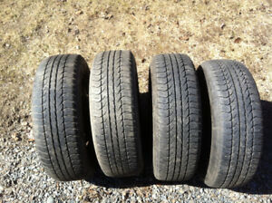 For sale: four 175/65 R14 tires on rims (from Toyota Echo) $175