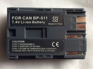 New camera battery BP-511 - fits Canon