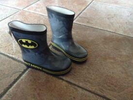 Size 6 Batman Wellington boots from M & S new