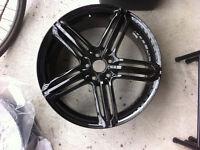 4 mags Audi 19po. Gloss black/ Rims Audi Black Gloss
