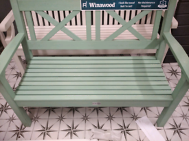 Winawood 2 seater bench duck egg