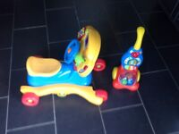 Toddler ride on and push along toys