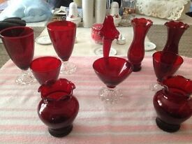 ~Selection of Ruby Glass~
