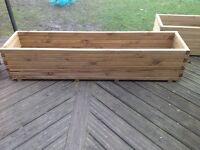 NEW pine trough planter 1.8m long