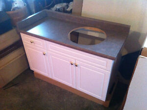 New vanity cabinet and countertop