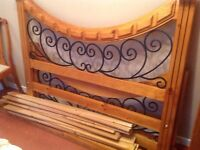 Pine bed frame - sold pending pick up