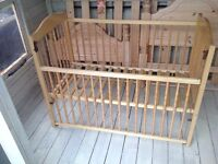 Mothercare Pine Spindle cot