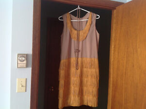 Flapper Dress, shoes and accessories - size 8 (loose fit) West Island Greater Montréal image 1