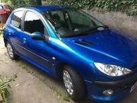 PEUGEOT 206s blue 1.4 petrol