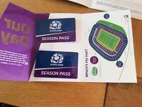 Scotland Rugby Season Passes