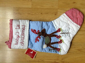 Pottery barn Baby's First Christmas Stocking BNWT