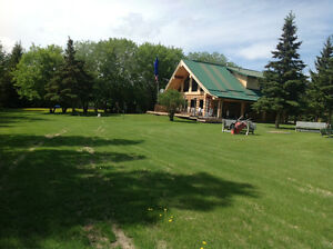BEAUTIFUL MOVE IN READY LOG HOME FOR SALE