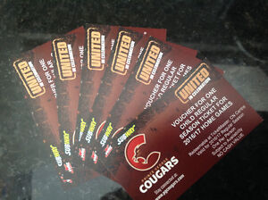 2 Adult Tickets for Cougars Home Game
