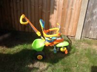 Unisex Smartrike 3 in 1 Push Along Tricycle Great Condition Morden SM4