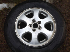 "Subaru alloy aluminium wheels rims with tires 15"" set of 4"