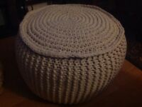 Knitted Pod/Footstool/stool