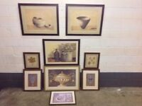 Pictures x9 Frames Framed paintings