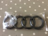 Audi carbon style rings
