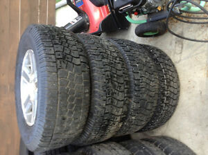 265/70/R17 Winter Tires mounted on Steel Rims (6 bolt)