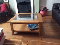 Coffee table john Lewis glass top good condition