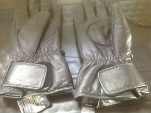 Leather Harley Davidson Cuffed Lined Gloves