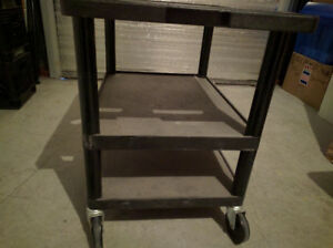 Resin Mobile Table Black, used,TV/RETAIL/Assembling Industry use
