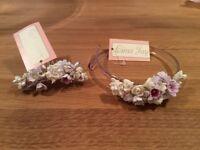 Bridesmaid hair accessories by Linzi Jay