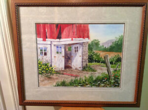 Original watercolour by Vancouver artist Joe Smith - $100