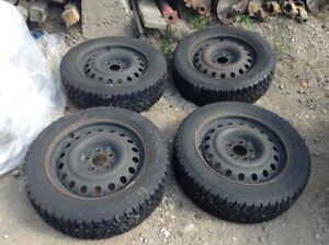 """17"""" Winter Tires And Rims (90% Thread)"""