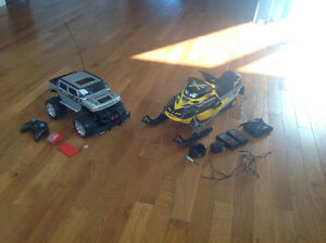 RC Hummer and Snowmobile! EXCELLENT CONDITION!