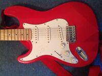 Amp and guitar