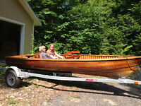 Peterborough Cedar Strip Runabout