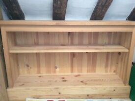 Pine book shelf unit