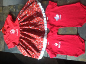 Canada dresses and onesies