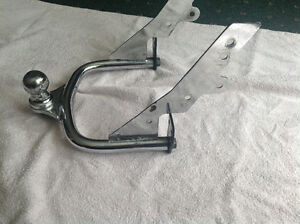 Kuryakan chrome motorcycle trailer hitch and ball