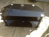 Black glass TV stand FREE!