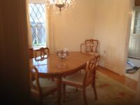 9 piece dining room set with two leafs