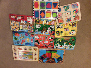 Mostly Melissa and Doug puzzles