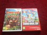 New super mario bros & donkey kong country returns 2 Nintendo wii games