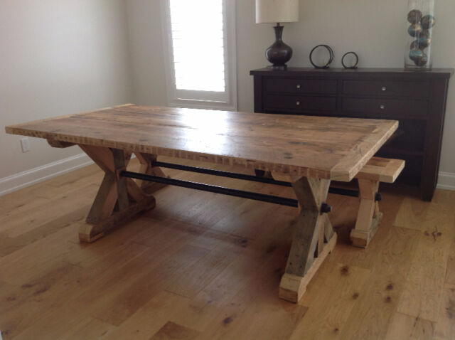 Custom Made Reclaimed Wood Furniture  dining tables and sets  Barrie   Kijiji