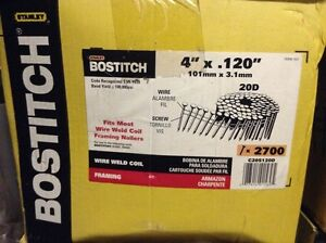 Stanley Bostitch 4 in coil framing nails West Island Greater Montréal image 1