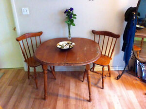 Wooden Table and 2 Chairs