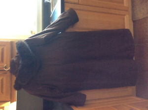 Long winter coat - Size small  - Designer Apropos Jacket - Brown