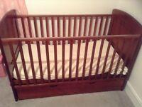 I Love My Bear Cot Bed/Mattress/Bedding