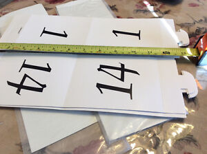 Table Numbers, two sides, black ink 1-24, Wedding, Anniversary