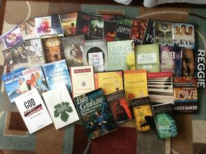Christian lot books/DVDs/CDs