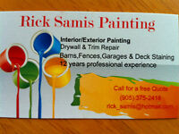 Interior/Exterior Painting in Cobourg and surrounding area