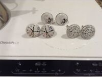 6 French Ceramic Cupboard / Drawer Knobs Brand New